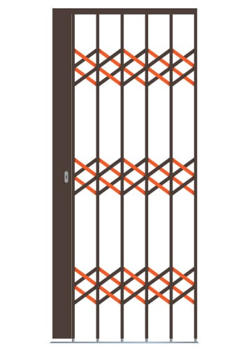 orange lines shows extra strength factor on our security doors
